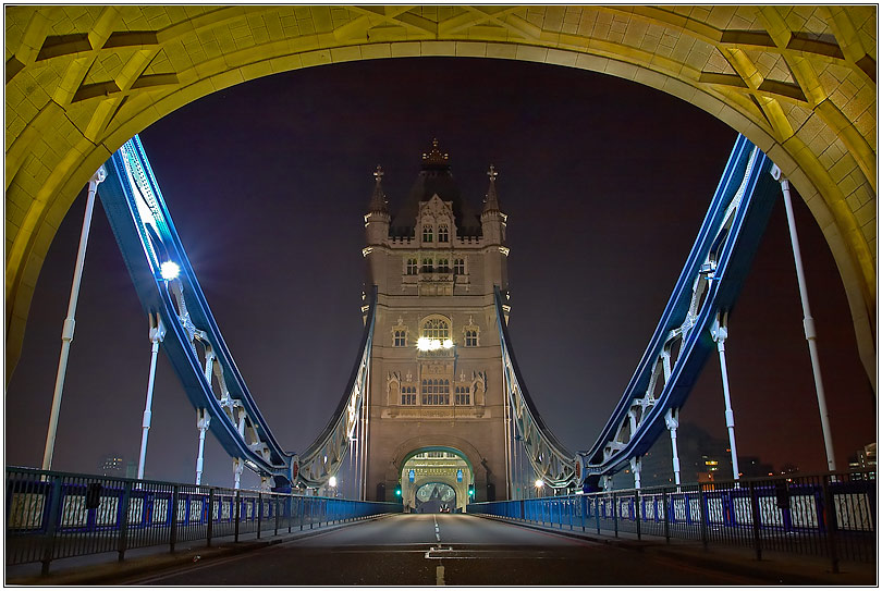 A view through the Tower Bridge....