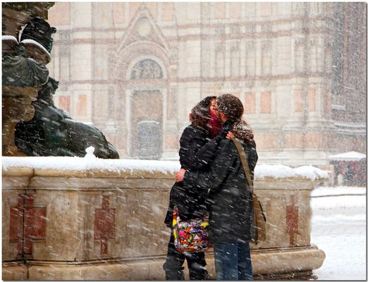 A warm kiss
