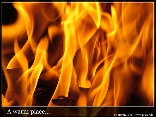 A warm place...