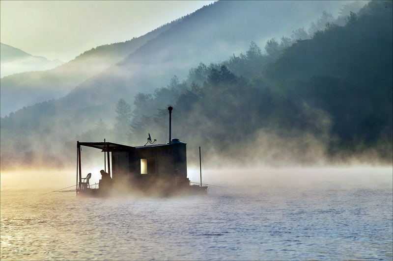 a wet fog
