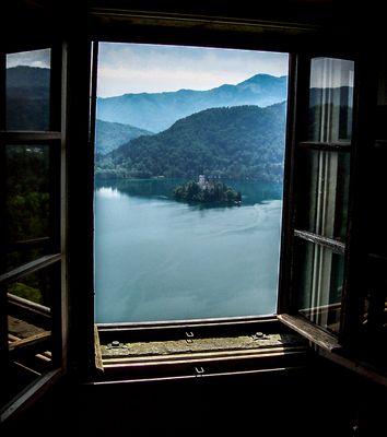 A window on a Lake