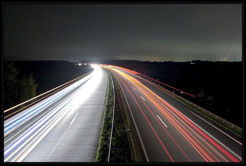 A30 bei Nacht