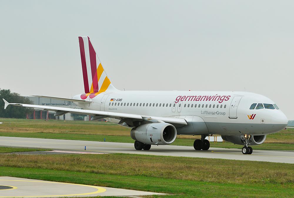 A319 Germanwings am Flughafen Hannover D-AGWB