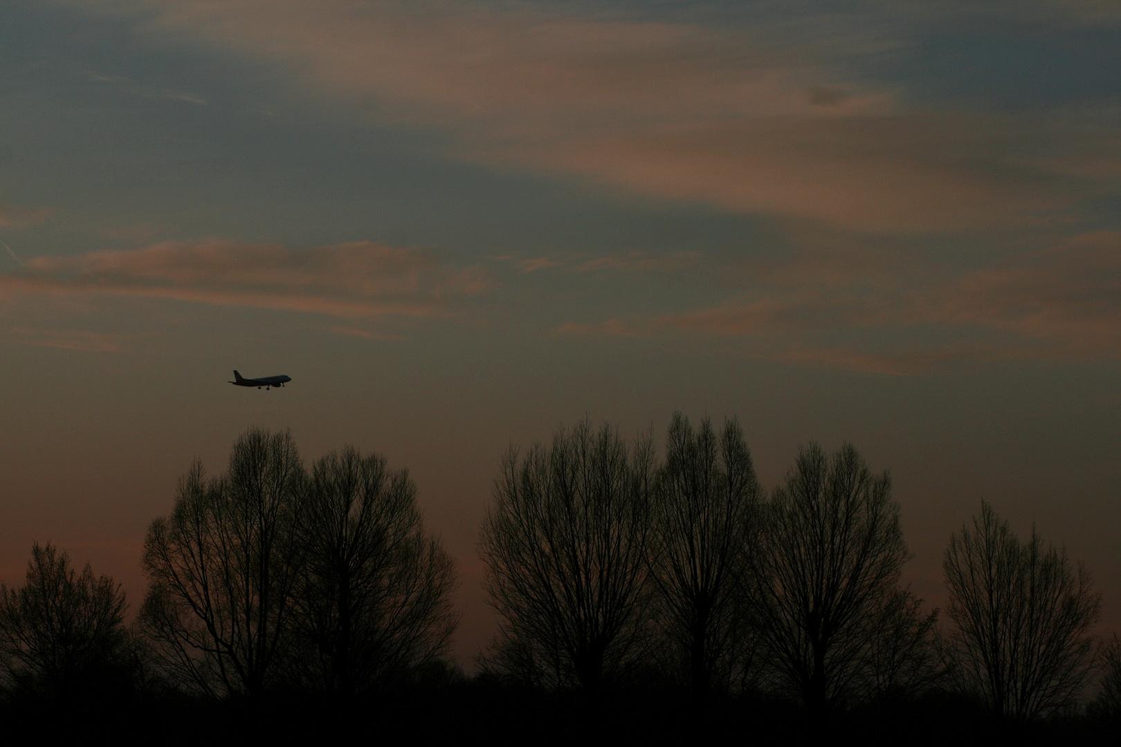 A320 Air Berlin, Sonnenuntergang