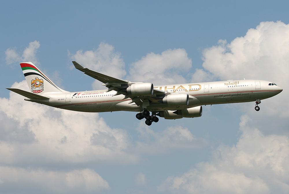 A340-500 Ethihad A6-EHC