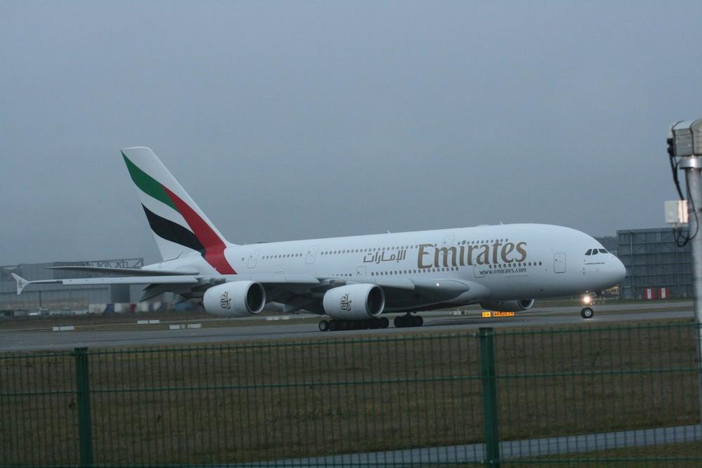 A380-800 Übergabe