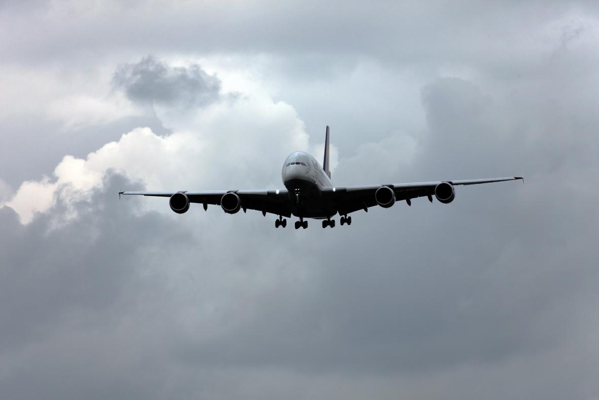 A380 Anflug auf FKB IV