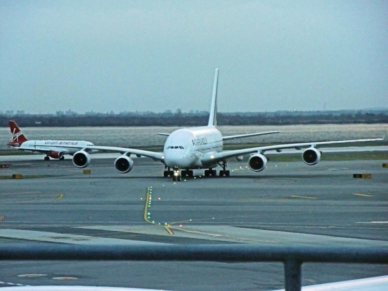 A380 der Air France Flug AF 007 am JFK Airport in New York
