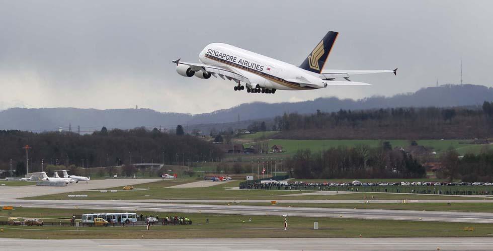 A380 SIA SQ 345 gestartet