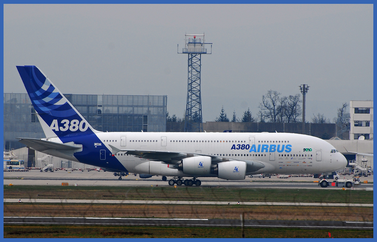 A380 Test in Frankfurt am Main
