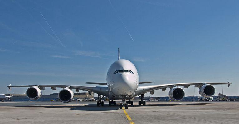 A380 zu Besuch in FRA