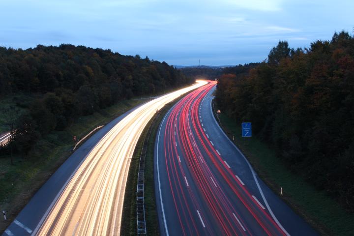 A45 bei Lüdenscheid.
