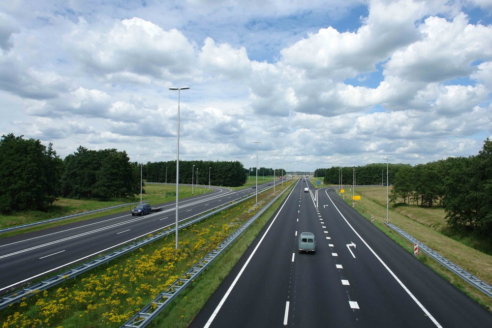 A50 snelweg, motorway, road, Autobahn at junction Vaassen
