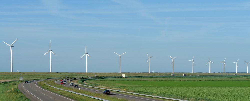 A6 snelweg, motorway, road, Autobahn near Lelystad