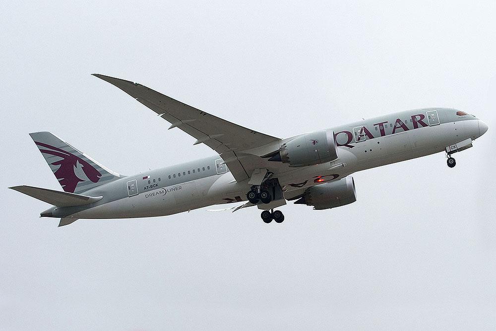 A7-BCK Boeing 787 Dreamliner kurz vor dem Grounding...