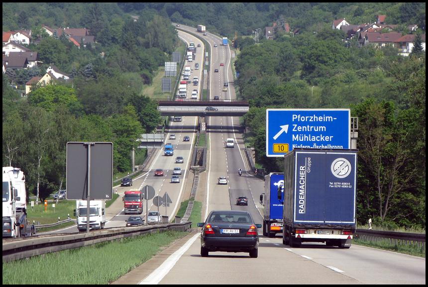 Pforzheim Autobahn