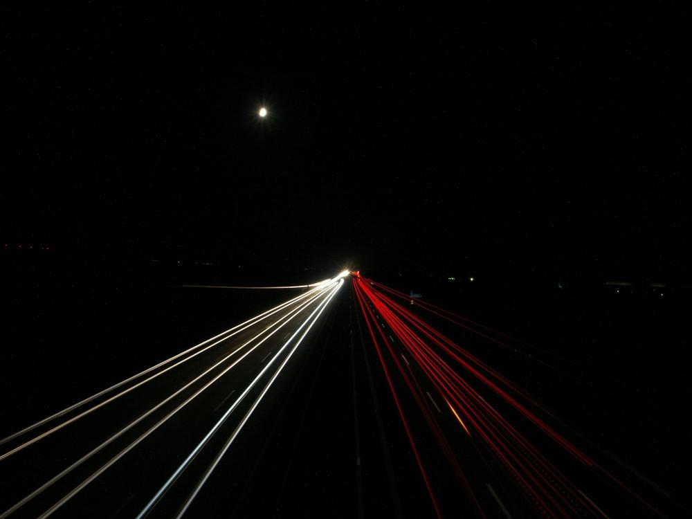 A9 - Bei Nacht