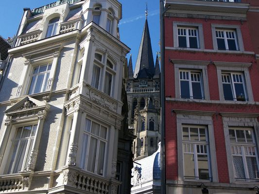 Aachener Dom versteckt