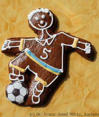 Aachener Printe in Gestalt eines Fussballspielers zur FIFA-WM 2006