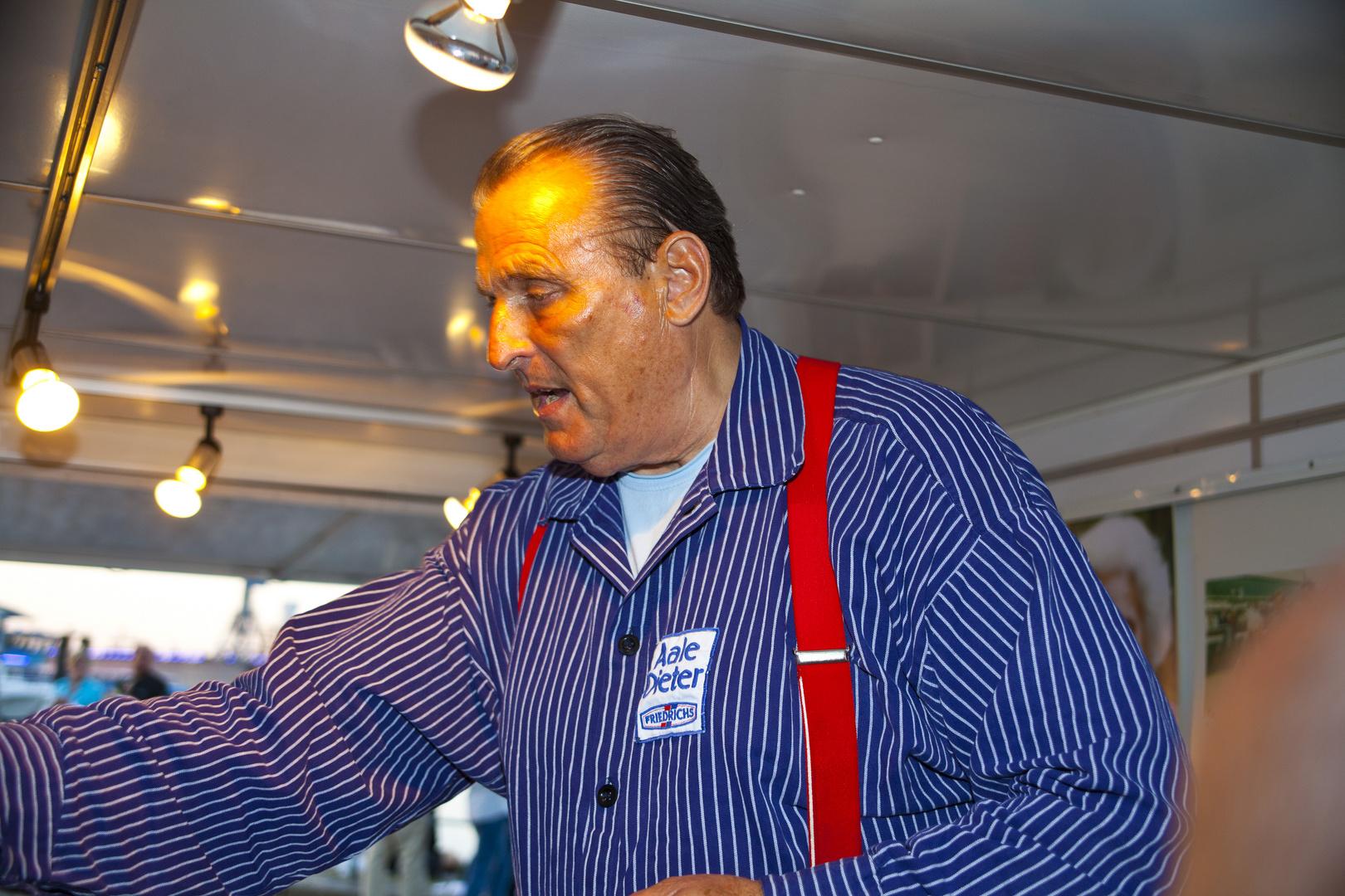 Aale Dieter am Hamburger Fischmarkt