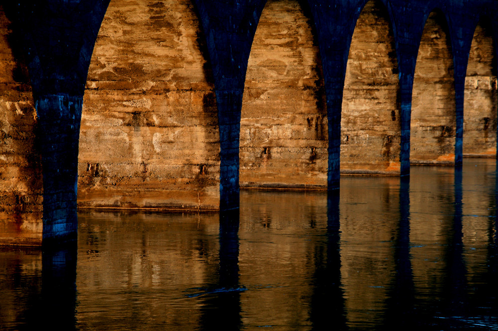 Aarebrücke am Morgen
