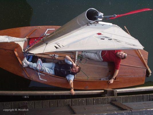 """AASC-Pirat """"Hansi-Burli"""" auf der Alten Donau"""