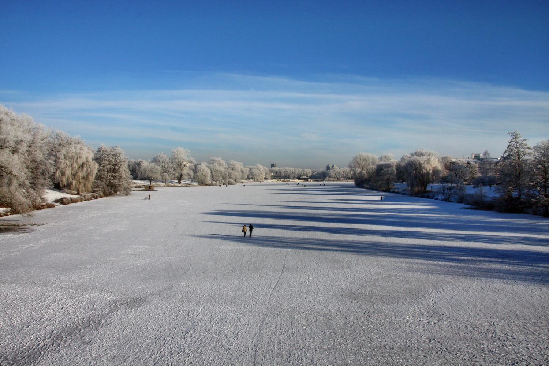 Aasee im Winter