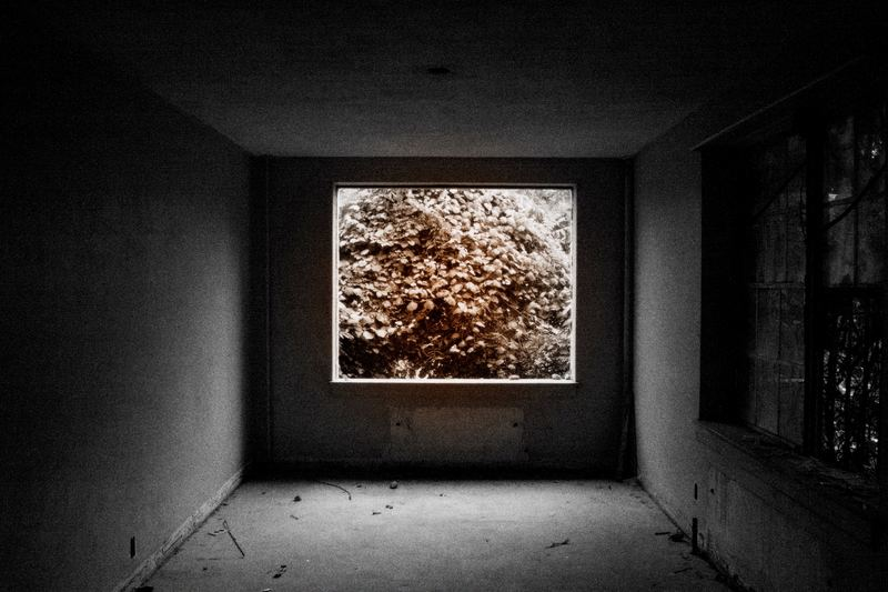 Abandoned dorm window