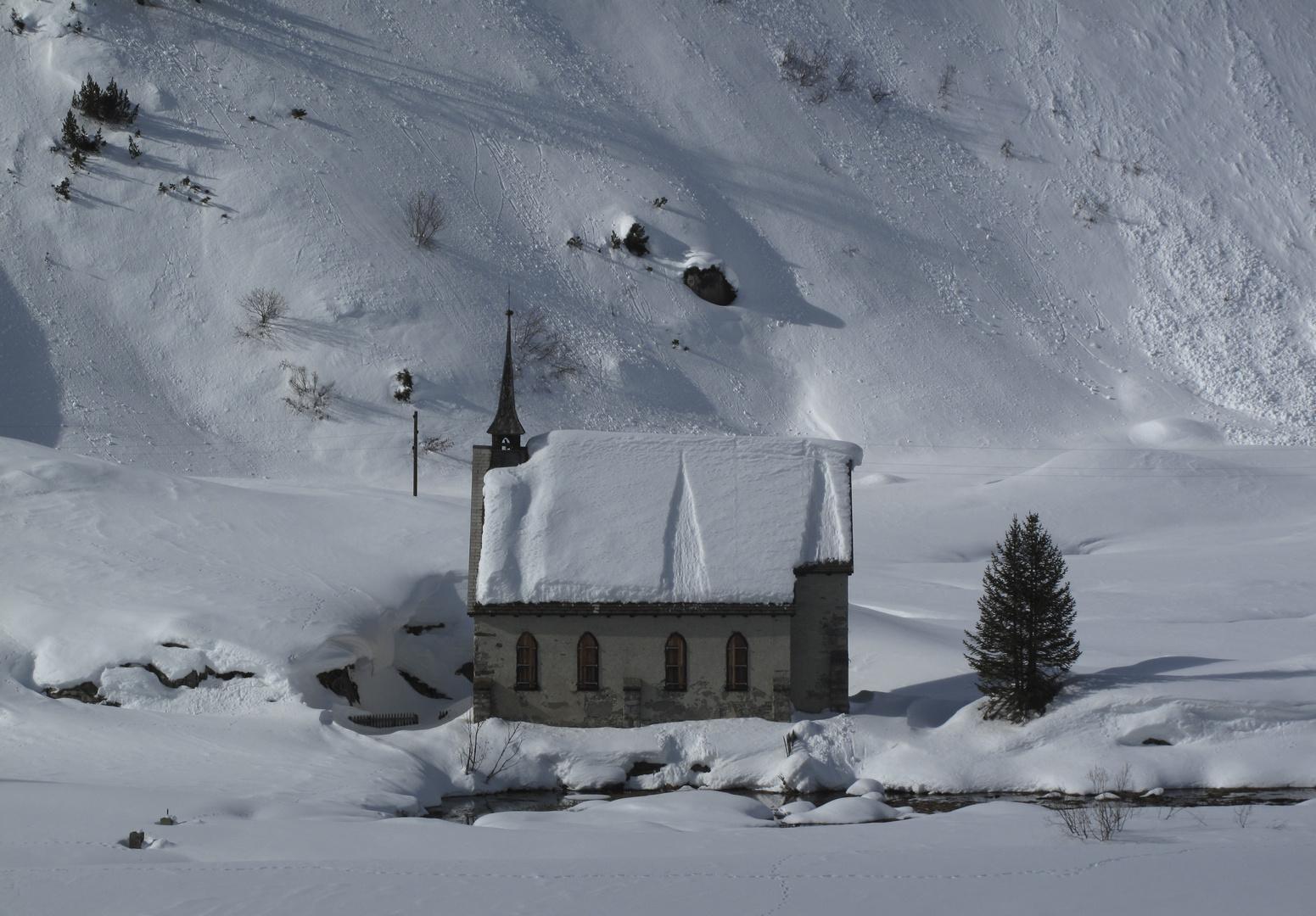 abandonnée dans la neige...