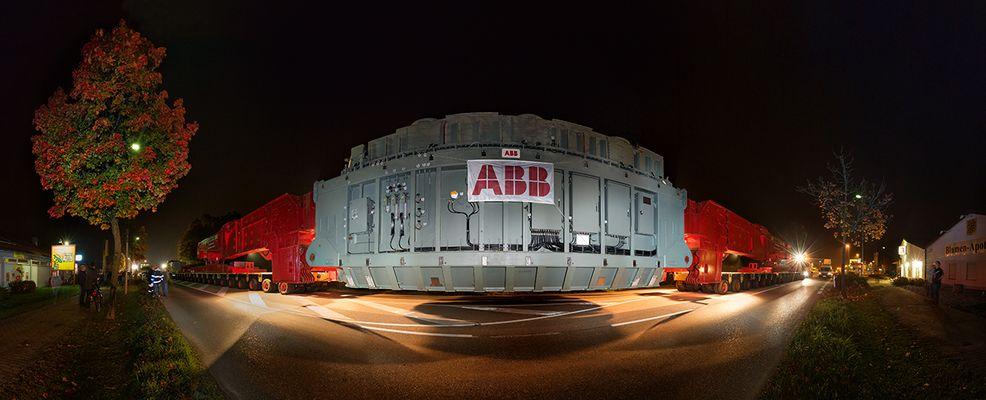 ABB Trafo Schwertransport in Simbach am Inn