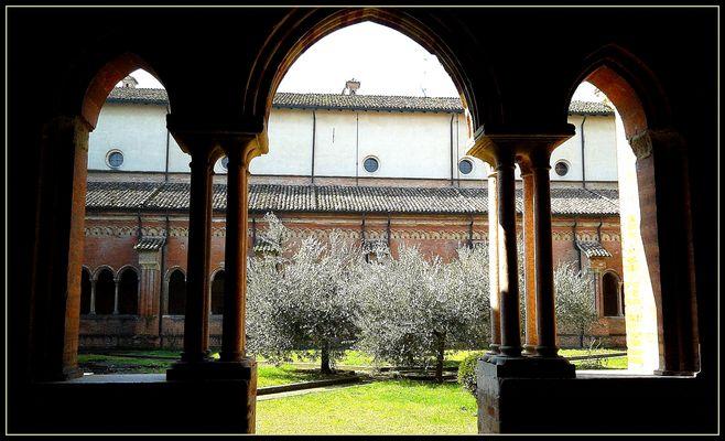 Abbazia di Chiaravalle..particolare del chiostro 2