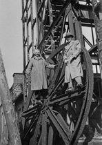 Abbruch des Förderturms der Grube Stahlberg (neuer Schacht) in Müsen (heute Hilchenbach-Müsen)