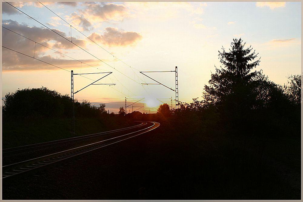Abend am Bahndamm