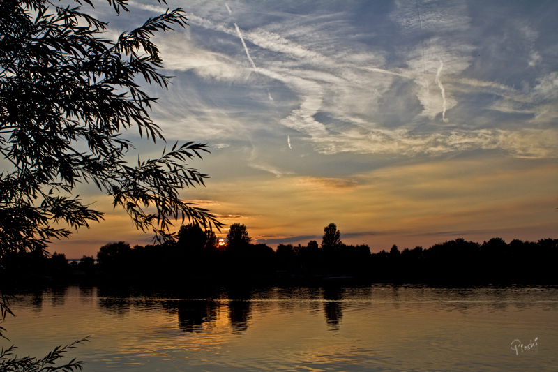 Abend am Echinger See