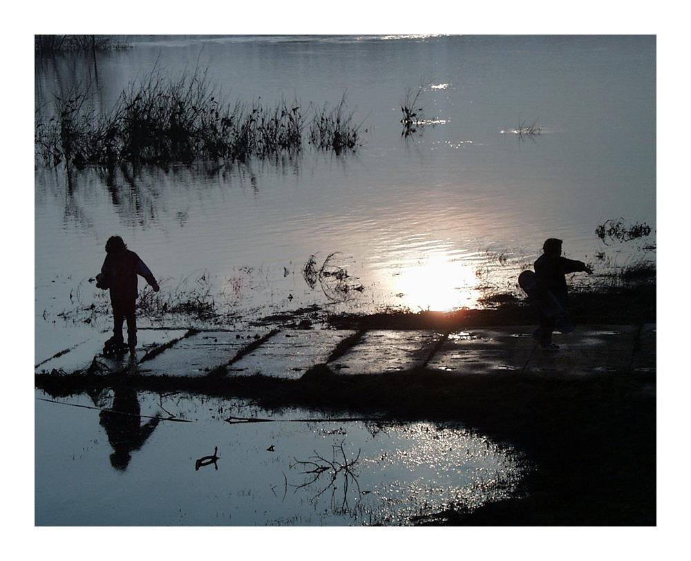 Abend am Fluß