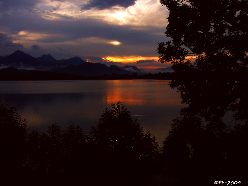 Abend am Forggensee