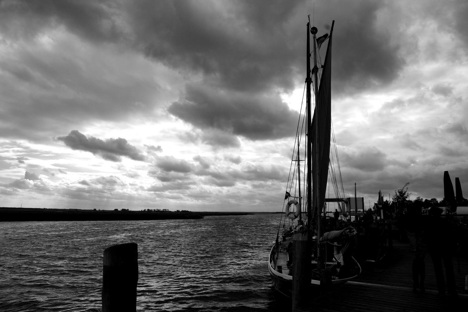Abend am Hafen/Zingst