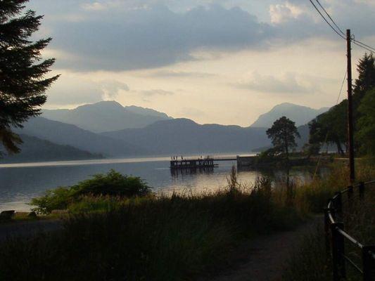 Abend am Loch Lomond (Scotland)