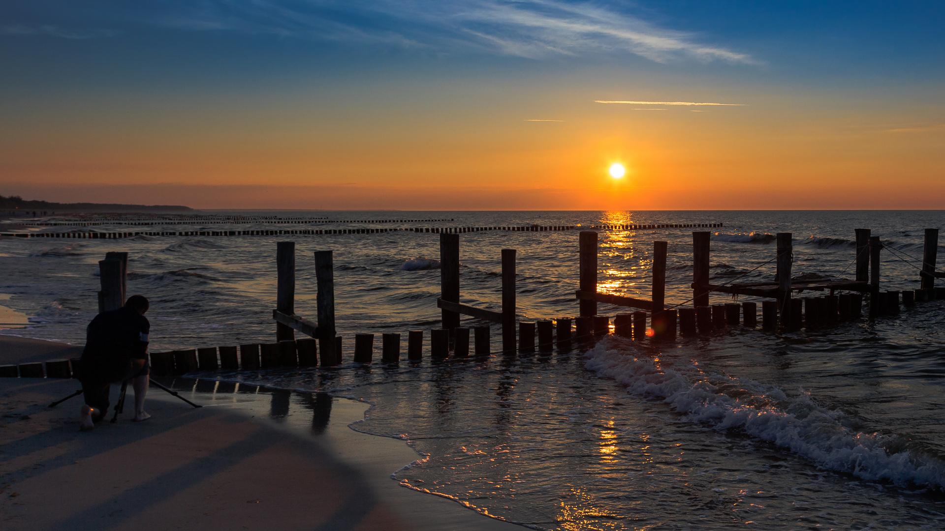 Abend am Meer ...