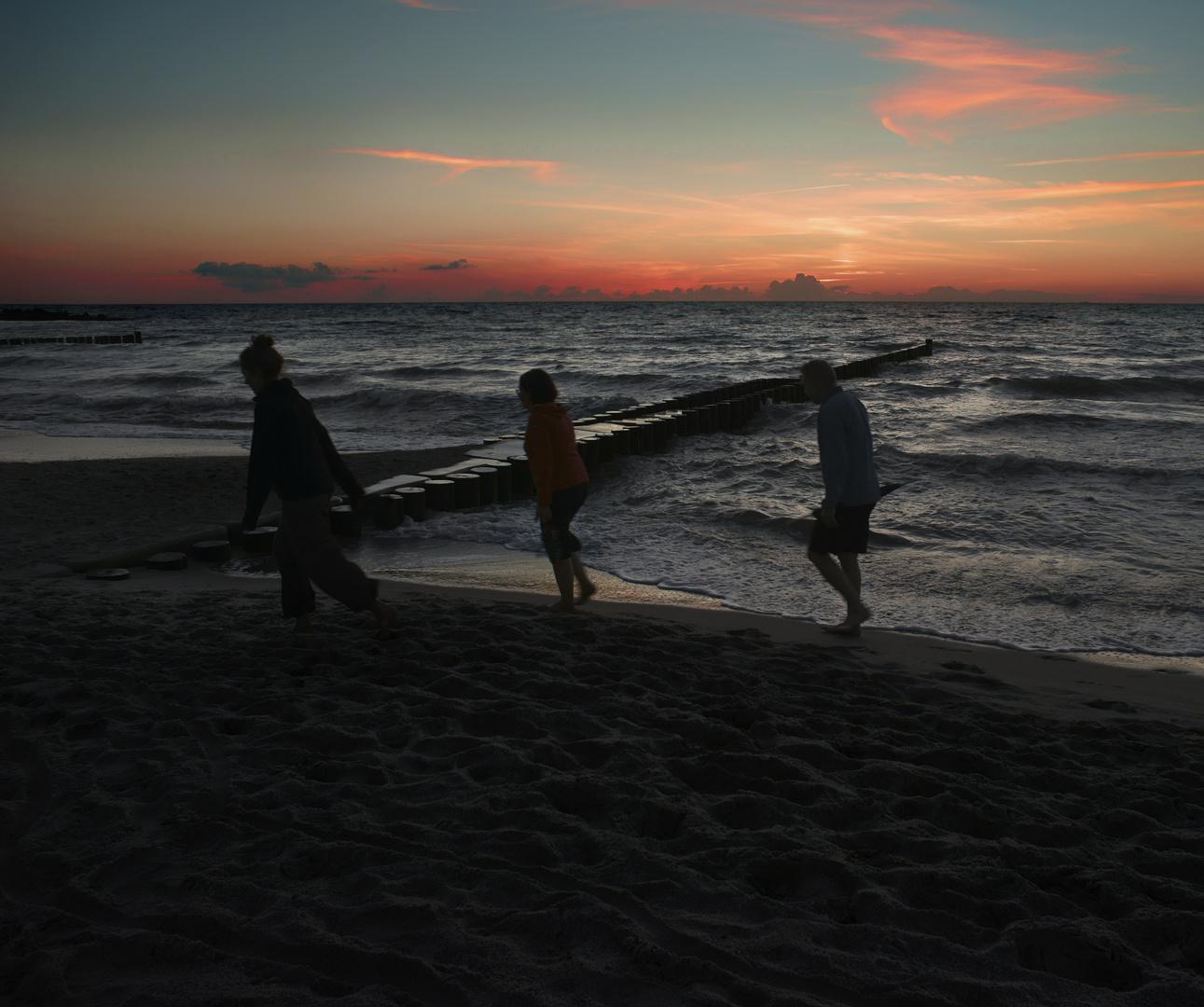 Abend am Meer von Ahrenshoop