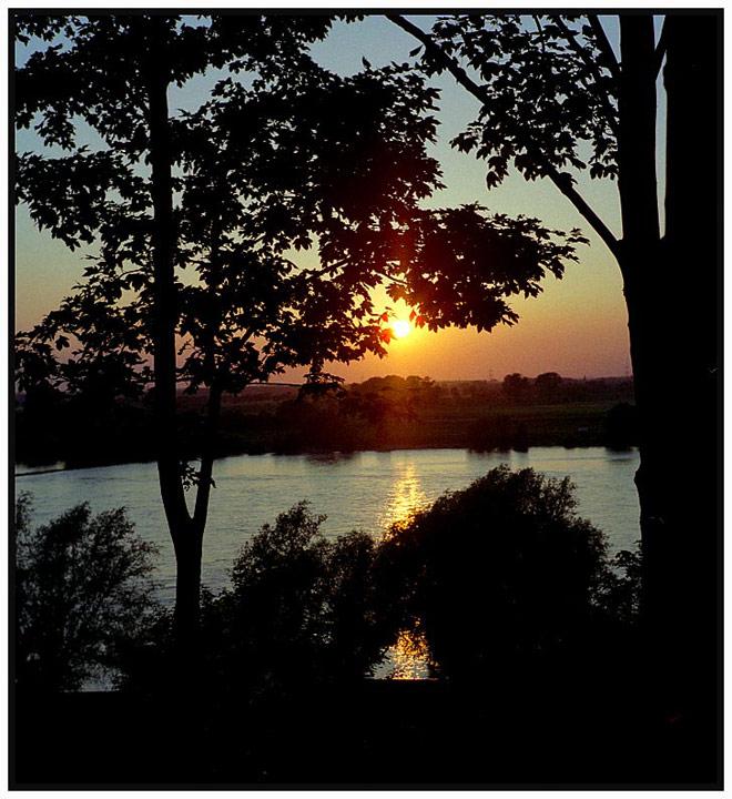 Abend am Niederrhein in Alsum