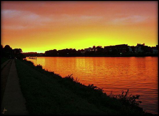 Abend am Nord-Ostsee-Kanal