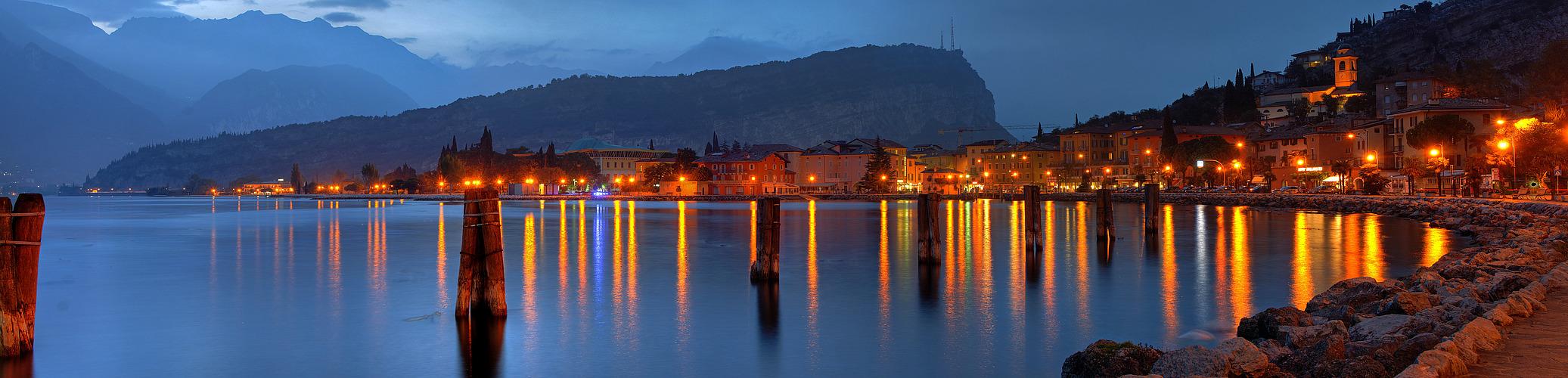 Abend am Nordufer des Gardasees