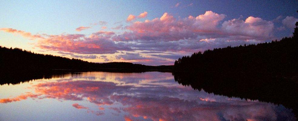 Abend am Övre Blomsjön