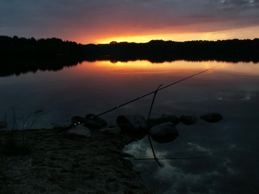 Abend am Raduniasee Kaschubien Polen