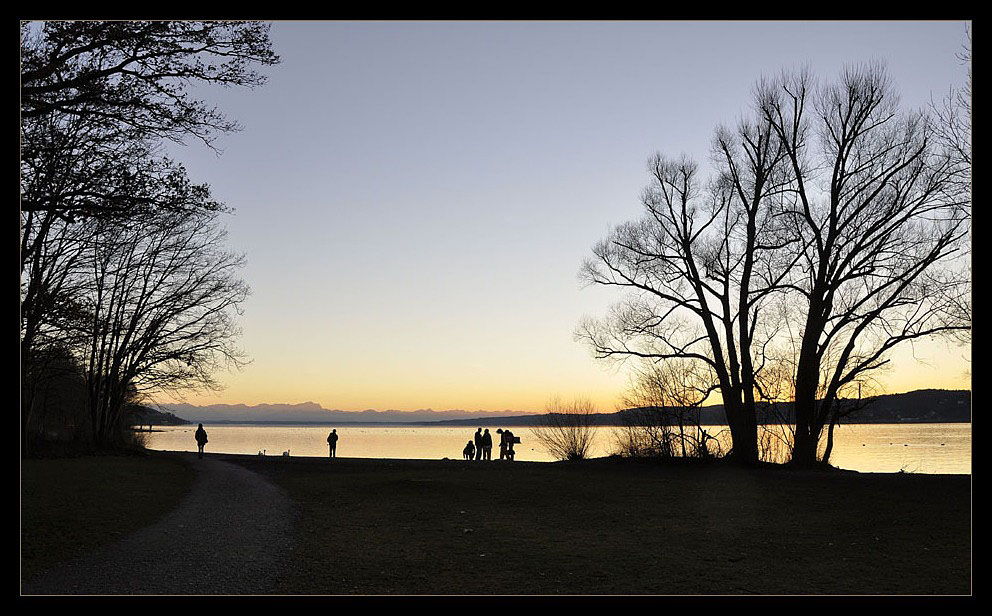 Abend am See ...
