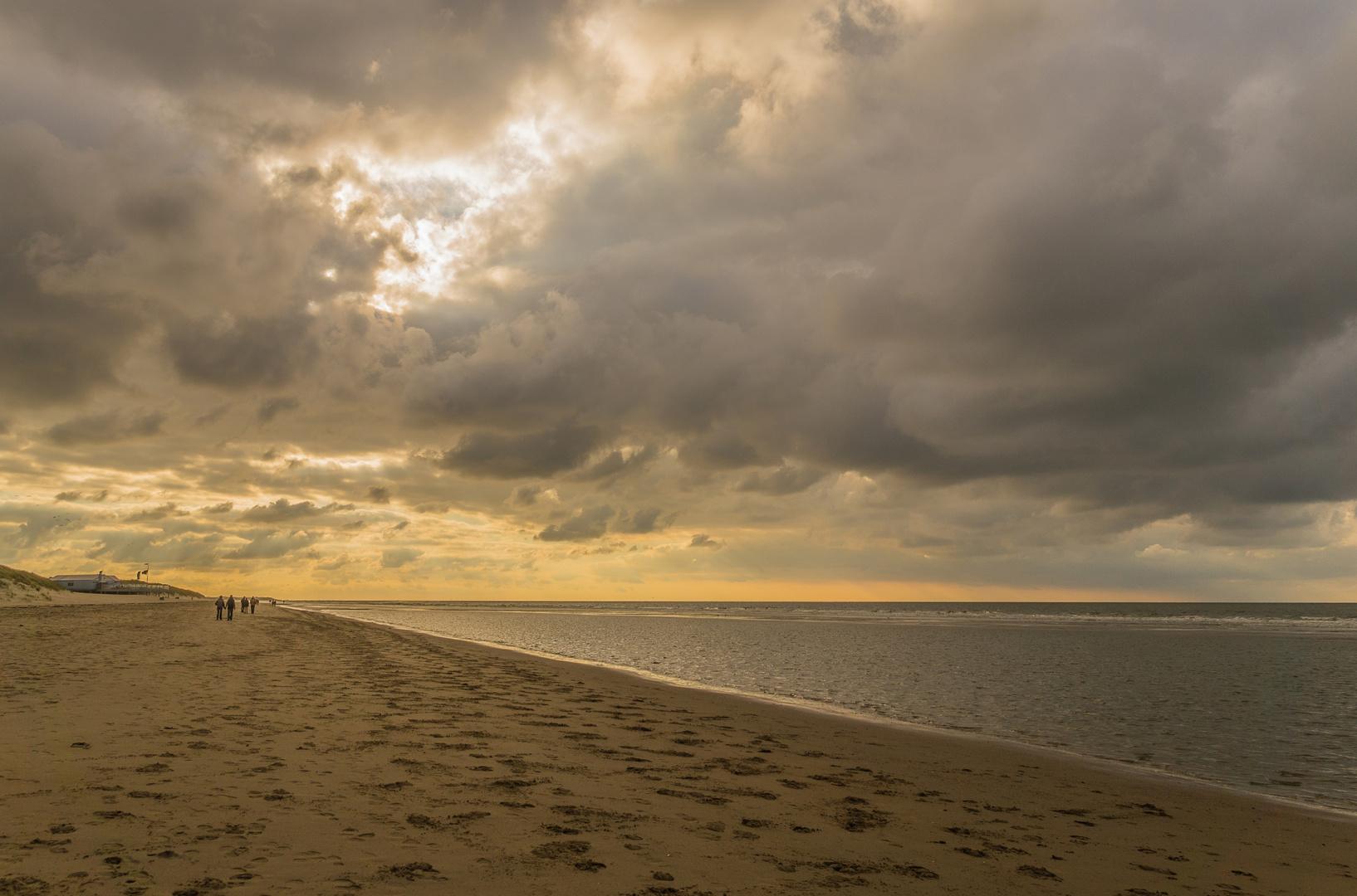 Abend am Strand von Renesse