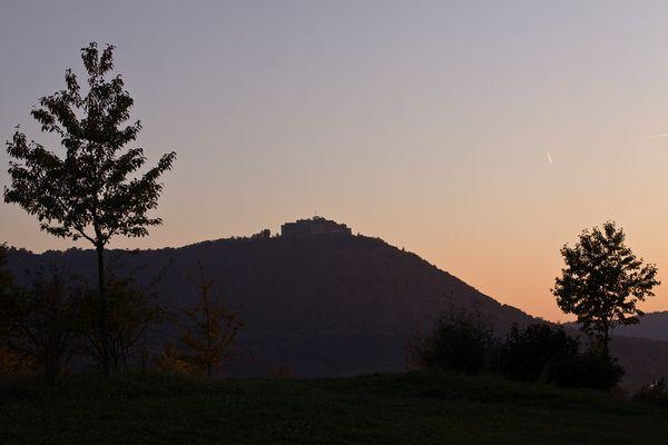 Abend an der Burg HohenNeuffen