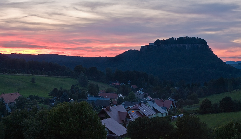 Abend an der Festung
