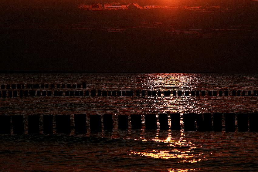 Abend an der Ostsee
